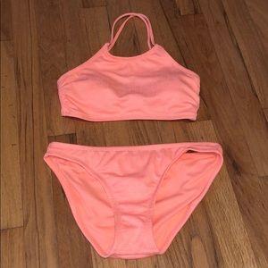 Criss cross halter bikini